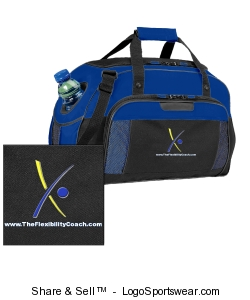 Blue Sports Bag Design Zoom