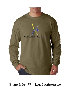 Khaki Long-sleeve T-shirt Design Zoom